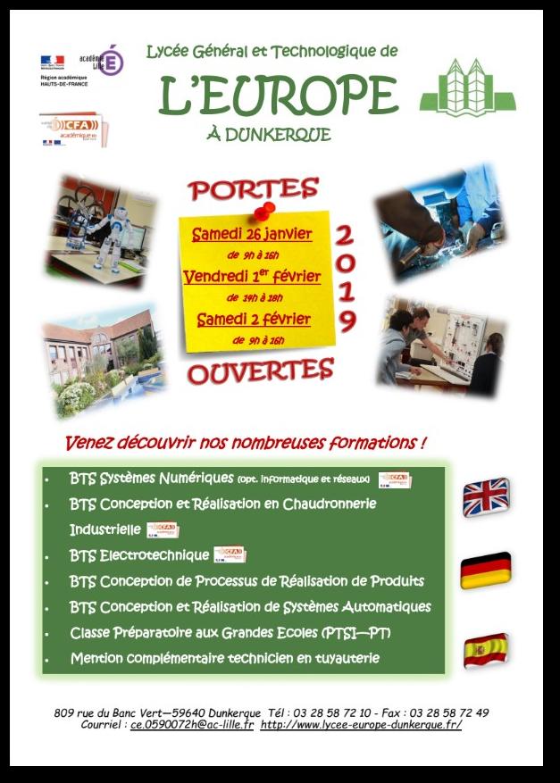 Lycée De Leurope Dunkerque Portes Ouvertes 2019